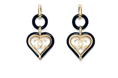 "Clip-On Earrings, £790 at [link url=""https://www.chanel.com/en_GB/fashion/p/cjy/ab1305y02018/ab1305y02018z3276/clipon-earrings-metal-resin-gold-navy-blue.html""]Chanel.com[/link]."