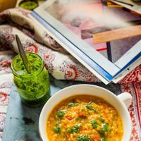 Paprika, Lentil and Tomato Soup