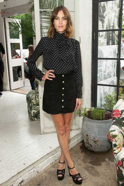 Alexa Chung for AG dinner, London - July 14 2015