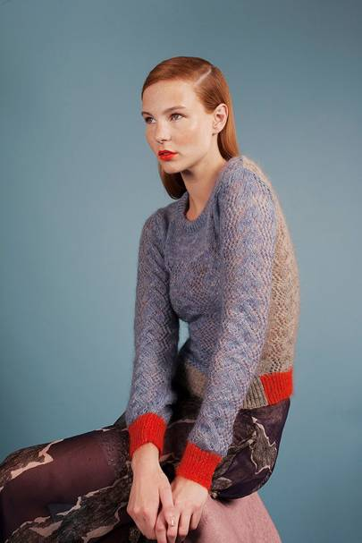 Mohair lace jumper, £175