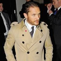 Tom Hardy wearing the trench coat