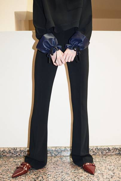 The flared trouser isn't going anywhere