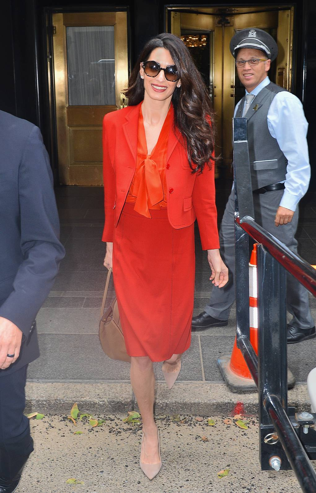images Amal Clooney Wore a Powerful Red Dress to the United Nations General Assembly