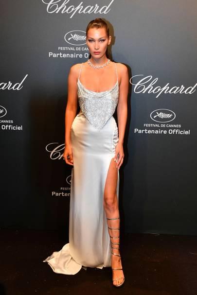 Bella Hadid in Roberto Cavalli Couture