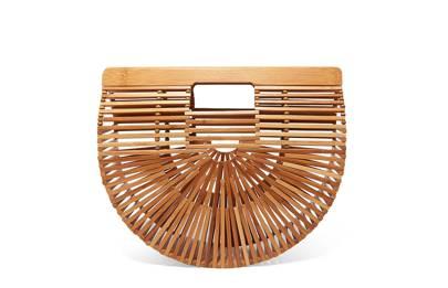 Cult Gaia Ark bamboo clutch