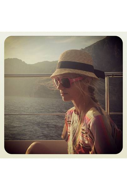 Boat life in Zoe Jordan stripes, Top Shop hat and Chanel shades