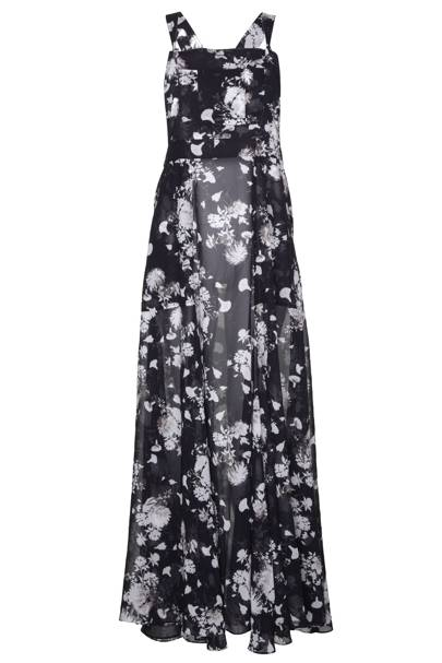 Floral chiffon overall dress, £80