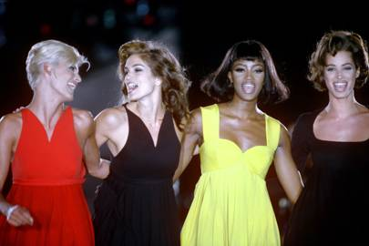 Linda Evangelista, Cindy Crawford, Naomi Campbell and Christy Turlington