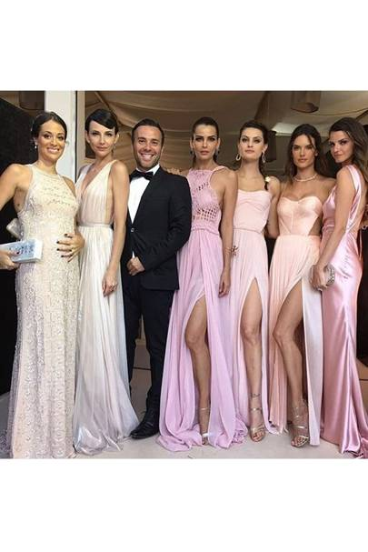 Ana Beatriz Barros Chose A Peachy Pink Colour Palette For The Bridesmaids At Her Wedding Including Fellow Models Alessandra Ambrosio And Isabeli Fontana