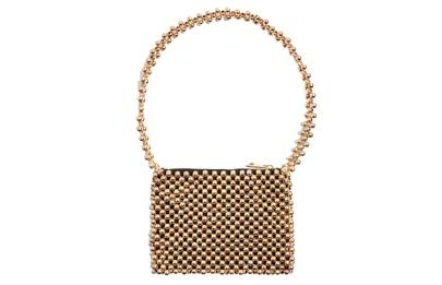 Topshop: metallic beaded shoulder bag