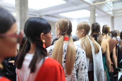 Backstage at Marni