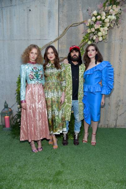 Petra Collins, Dakota Johnson, Alessandro Michele and Hari Nef