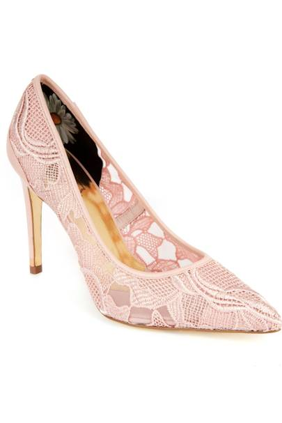 Lace court shoe, £120