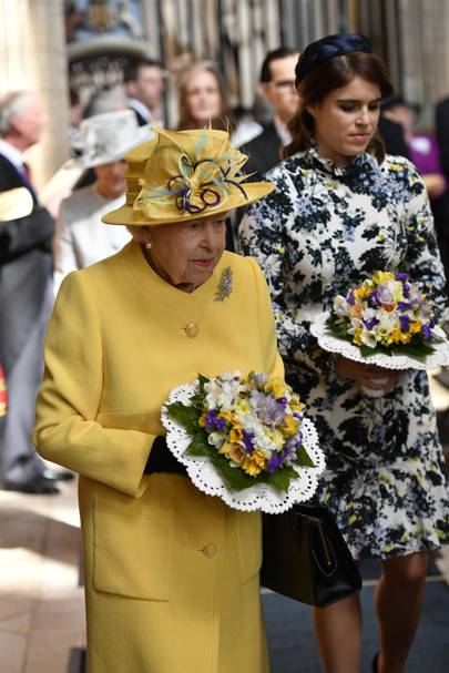 The Queen And Princess Eugenie Do Spring Dressing For Easter Celebration