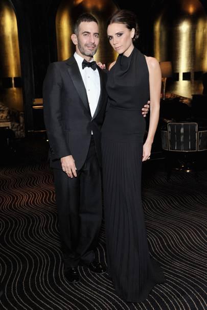 NOVEMBER 2011 - Victoria Beckham was presented with her Designer Brand award  by fellow designer Marc Jacobs. 2d4d811e9270