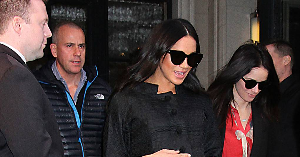 Meghan Sources A Courrèges Coat From The '60s For Her Baby Shower In NYC
