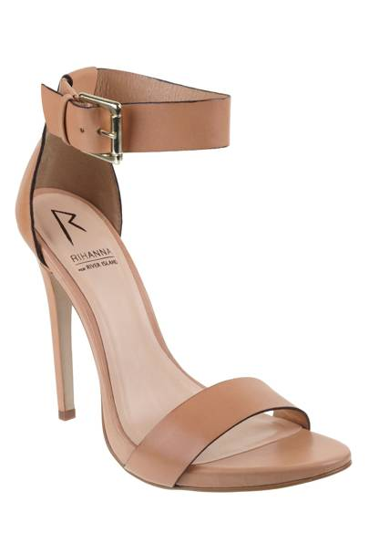 Pink ankle strap stiletto, £80