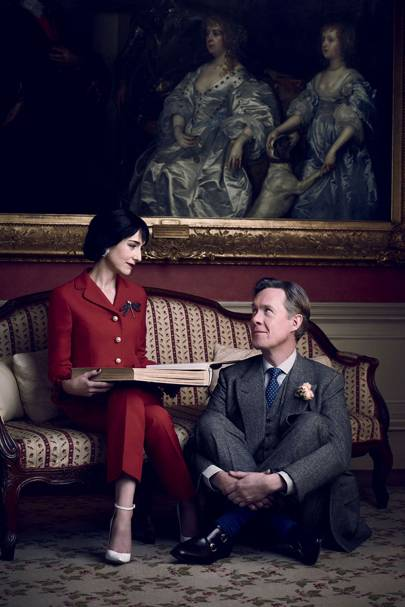 Lia Williams – in a Gucci trousersuit – and Alex Jennings as the Duke and Duchess of Windsor