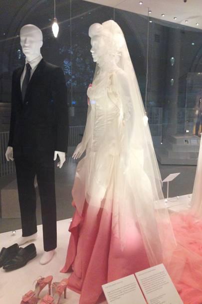 Victoria albert museum vas wedding dresses exhibition preview gavin rossdales dior homme suit and gwen stefanis john galliano for dior gown junglespirit Gallery
