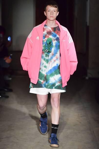 Gosha Rubchinskiy's pink Adidas tracksuit