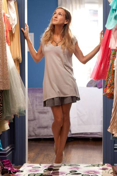 MARCH 2010 - Carrie shows off a closet that most girls would kill for.