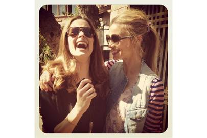 Laughing with Livia. (I'm wearing my old favourite Zoe Jordan dress, a J Crew cardi, and a Current Elliot jacket I cut up once upon a time). Too many dress codes. Today = CASUAL.