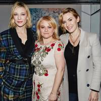 Cate Blanchett, pictured with Nicola Clarke and Kate Winslet