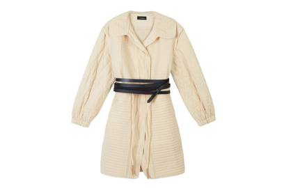 Isabel Marant's quilted coat is light enough to wear over layers and warm enough to wear as a wraparound dress
