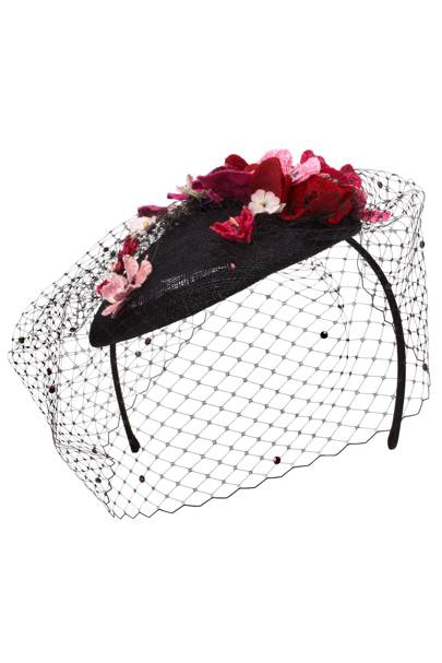 Floral net Floral headpiece, £95