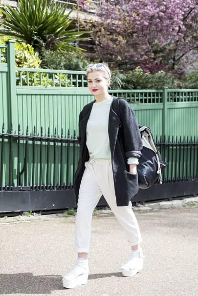 Gretta Matusaite, fashion design student