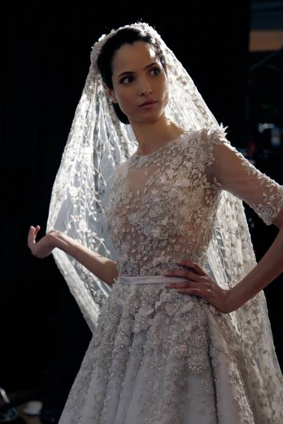 Ralph and russo couture bride pictures hanaa ben abdesslem for Ralph and russo wedding dress
