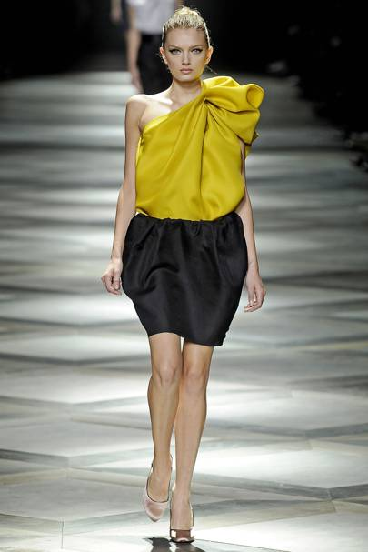 Lanvin h m yellow dress assembly