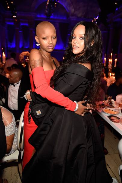 Slick Woods and Rihanna