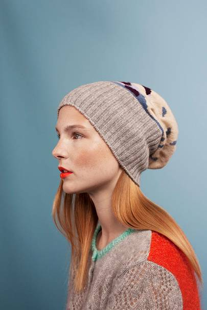 Cashmere intarsia hat, £180