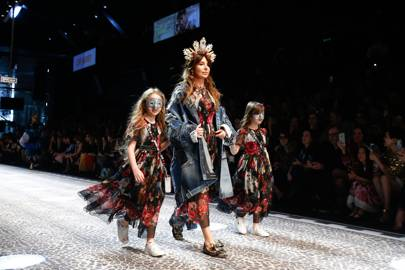 Families featured heavily at the Dolce & Gabbana Autumn/Winter 2017 show.