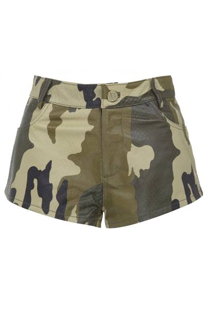 Limited edition camouflage hotpants, £85