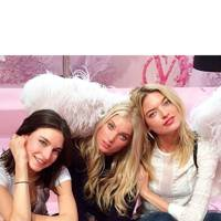 Jacquelyn Jablonski, Elsa Hosk and Martha Hunt backstage