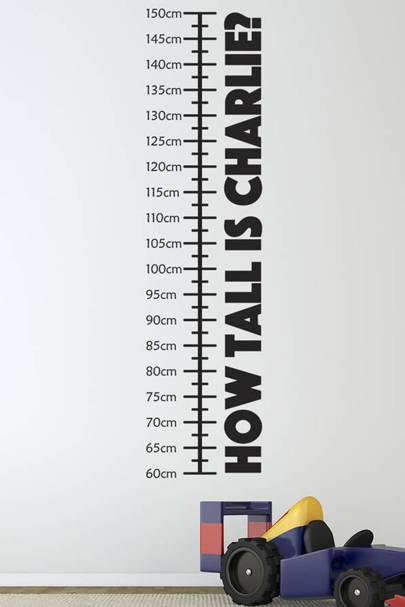 Personalised height chart