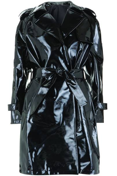 Patent trench coat, £300