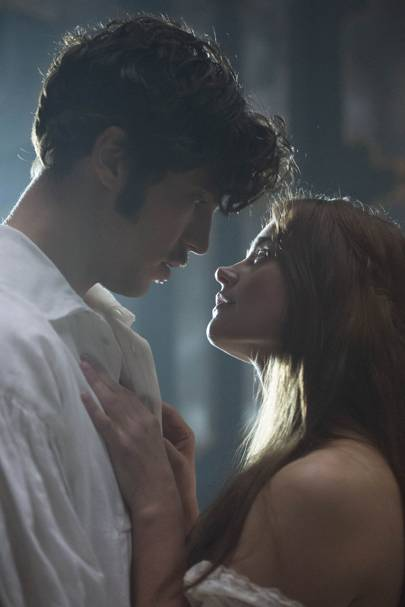 Tom Hughes as Prince Albert and Jenna Coleman as Queen Victoria in ITV's Victoria