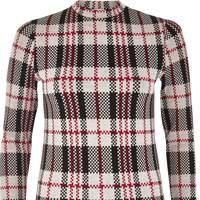 Red Check Turtleneck Top, £24: