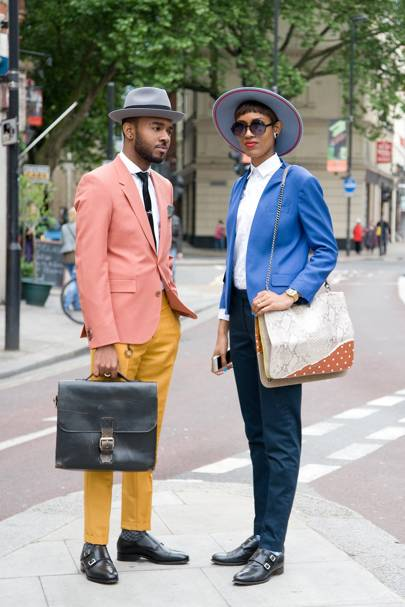 Martell and Donya Campbell, fashion editors and designers