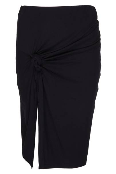 Black knotted skirt, £35