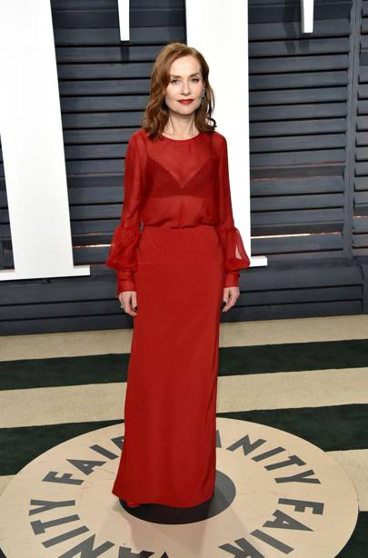 Isabelle Huppert in Armani