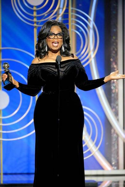 Oprah gave the speech of all speeches