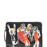 Leather clutch, £179