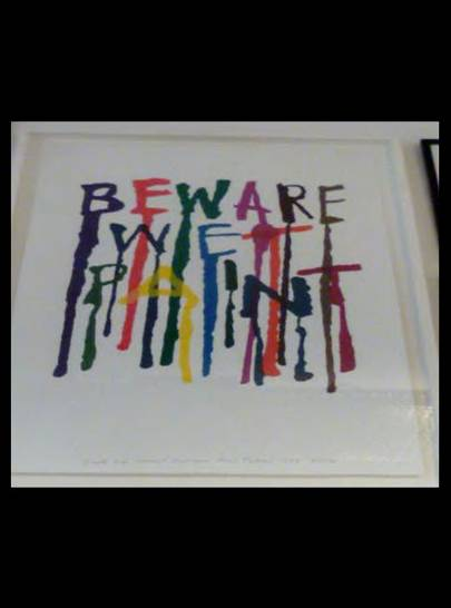 Alan Fletcher: Beware Wet Paint 1996