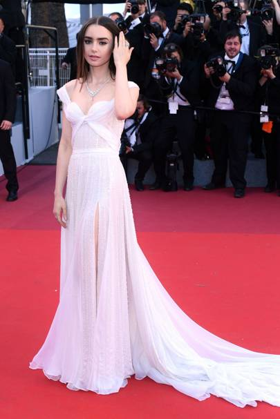 Lily Collins in Ralph & Russo Couture