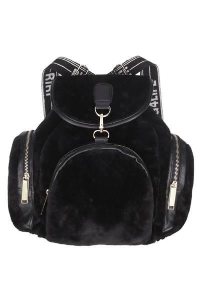 Black rucksack, £20