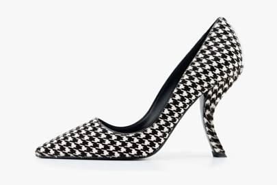 """Roger Vivier """"Virgule"""" comma heels in houndstooth, autumn 2014"""
